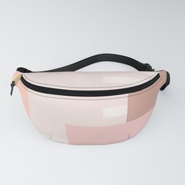 Carson Abstract Geometric Print in Pink Fanny Pack