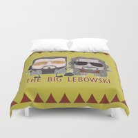 the big lebowski Duvet Covers featuring The Big Lebowski by Francesco Dibattista