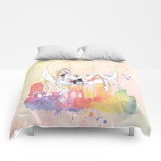 Can not Fight The Moonlight Watercolor Version Comforters