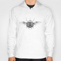 beetle Hoodies featuring Beetle by Freja Friborg