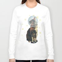 space cat Long Sleeve T-shirts featuring Space Cat. by Dani Does Art