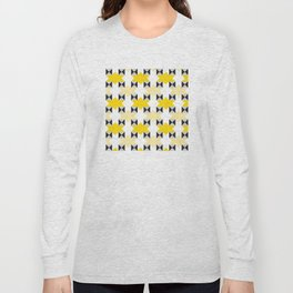 Geometric Pattern #97 (yellow stars) Long Sleeve T-shirt