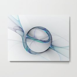 Minimalist Abstract, Fractal Art Metal Print