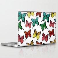 butterflies Laptop & iPad Skins featuring Butterflies by Julia Badeeva