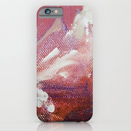 Canvas Peaks Sunset - an abstract, textured artwork by Jacob von Sternberg iPhone Case