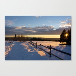 On Our Way to Darkness Canvas Print