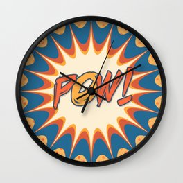 POW! Polka Dot Vintage Graphic Novel Art Wall Clock