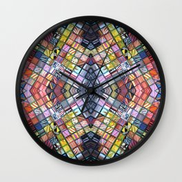 Refractions Reflected Wall Clock