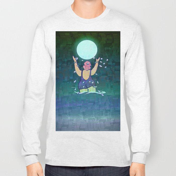 Bathing somewhere under the Moon Long Sleeve T-shirt