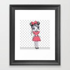 Minie Skull  Framed Art Print