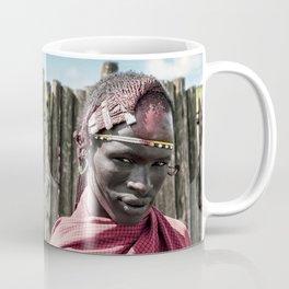 4117 Maasai Warrior Ngorongoro Tanzania Coffee Mug