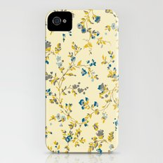 vintage floral print Slim Case iPhone (4, 4s)