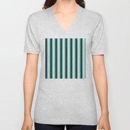Geometric Pattern #190 (teal zigzag) Unisex V-Neck