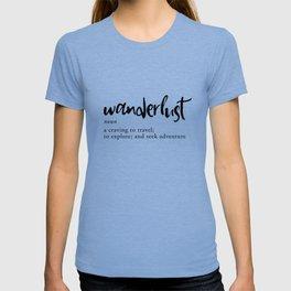 Wanderlust Definition - Minimalist Black Type T-shirt