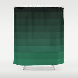 Black and green striped Ombre Shower Curtain