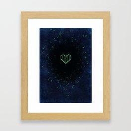 Music Heart old paper Framed Art Print