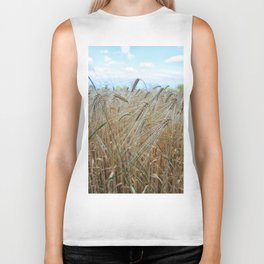 beautiful barley field Biker Tank