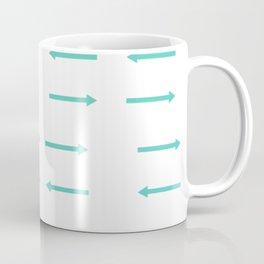 Arrows in Teal Coffee Mug
