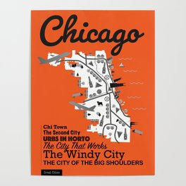 Great Cities: Chicago Poster