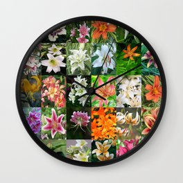 Lily Montage Wall Clock