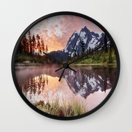 Mt Shuksan Wall Clock