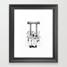 Love (one hand to caress and the other one to hurt) Framed Art Print