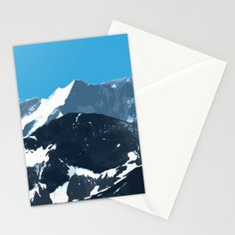 swiss mountains Stationery Cards