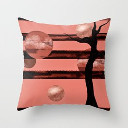 Corail moons Throw Pillow