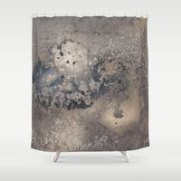 rush Shower Curtains featuring Golden Rush by Anna Garcia Masfret