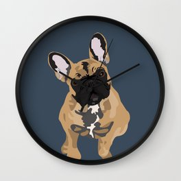 Zoey the Frenchie Wall Clock