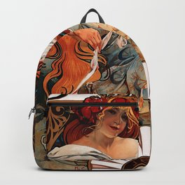 "Alphonse Mucha ""Biscuits Champagne-Lefèvre-Utile"" Backpack"