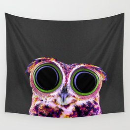 Electric Owl Wall Tapestry