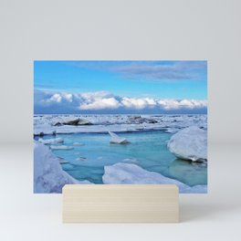 Frozen, and clouds on the Horizon Mini Art Print