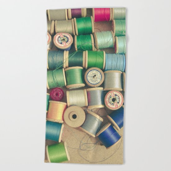 Cotton Reels Beach Towel