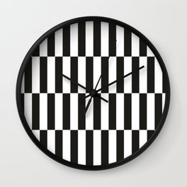 Black checkers scandinavian design Wall Clock