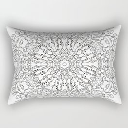 Circle ornament with apple tree Rectangular Pillow