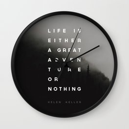 Adventure or Nothing Wall Clock
