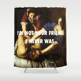 Judith Stopping Holofernes Shower Curtain