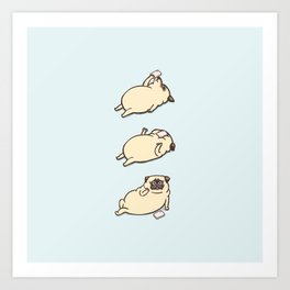 Phone Drop Pug Art Print