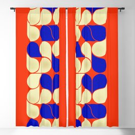 Mid-century geometric shapes-no10 Blackout Curtain
