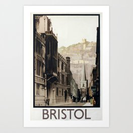Bristol Vintage Travel Poster Art Print