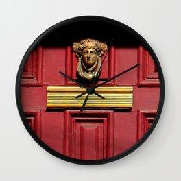 Stage Door 1889 - Please Knock Wall Clock