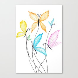colorful flying butterflies Canvas Print