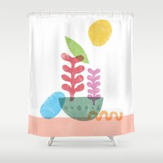Still Life with Egg & Worm Shower Curtain