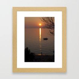 Lonely Michigan Sunset Framed Art Print