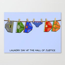 Laundry Day at the Hall of Justice Canvas Print