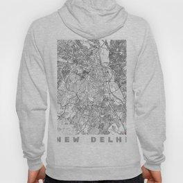 New Delhi Map Line Hoody