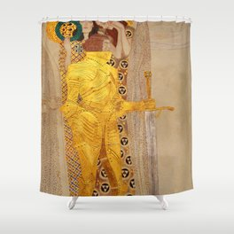 The Golden Knight - Gustav Klimt Shower Curtain