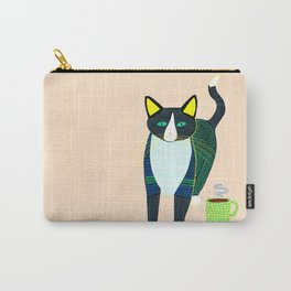 Graham the Cat with His Morning Coffee Carry-All Pouch