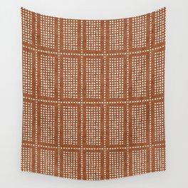 dotty boho geometric - ginger Wall Tapestry